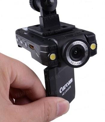 Автомобильный видеорегистратор FULL HD 1080 P с LCD монитором с поворотной камерой с углом обзора 140 градусов (модель CARCAM VD-K2000) !!!ЦЕНА СНИЖЕНА!!!
