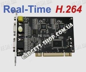 8-ми канальная H.264 компьютерная PCI плата видеозахвата для CCTV камер + 8 звуковых канала + ТВ выход (200 fps)