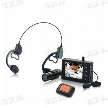 Комплект: наголовная проводная влагозащитная спортивная экшн камера + портативный видеорегистратор с LCD экраном - для активных видов спорта