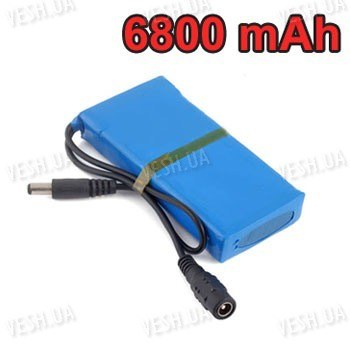 12V литий-полимерный перезаряжаемый аккумулятор 6800 mAh для автономного питания CCTV камер видеонаблюдения (1)