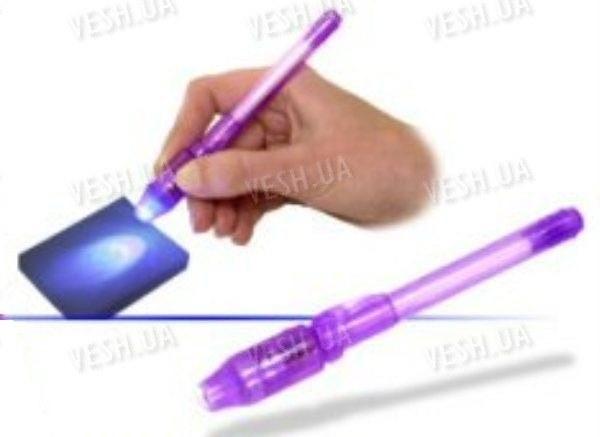 Шпионская ручка с невидимыми чернилами и ультрафиолетовой подсветкой