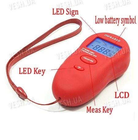 Портативный инфракрасный бесконтактный LCD цифровой термометр (модель DT-8260)