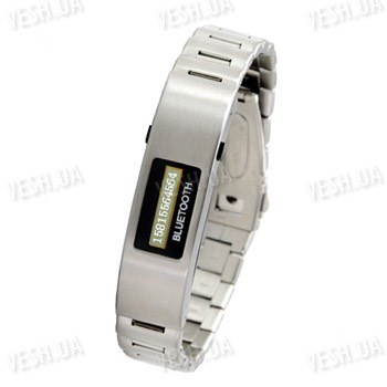 Bluetooth браслет с функцией виброзвонка и LCD диплеем, показывающий номер звонящего абонента