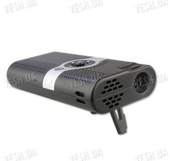Портативный автономный цифровой мини LED проэктор, совместимый с Iphone, якростью 6 люмен с размером изображения до 54 дюймов (модель MP-01)