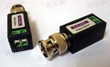 Пассивный BNC комплект приёмо-передачи видеосигнала по витой паре - видео балун (модель BNC-04)