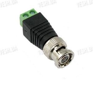 10 штук коннекторов BNC под витую пару с клемником под отвертку для соединения с камерами и видеорегистраторами (модель BNC-02)