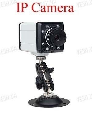 Внутренняя охранная проводная  IP видео камера с ИК подсветкой 640 х 480 @ 25fps(модель FI8604
