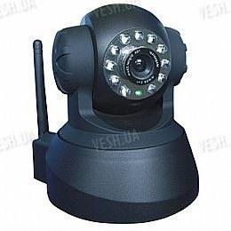 Беспроводная WIFI цветная поворотная роботизированная PTZ камера IP видеонаблюдения  c ИК подсветкой (модель FOSCAM FI8908W)