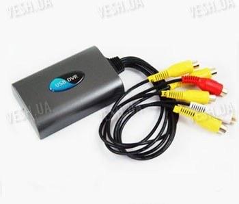 4-х канальный USB видеорегистратор для компьютера или ноутбука с 2-мя звуковыми каналами с поддержкой Windows Vista 32 (мод. EzCAP3104)
