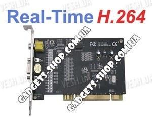 4-х канальная H.264 компьютерная PCI плата видеозахвата для CCTV камер + 4 звуковых канала (100 fps)