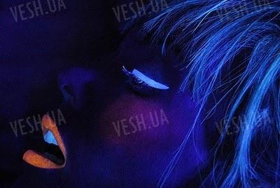 """Светящиеся в темноте крема для лица гель и тела УФ UV """"синий"""""""