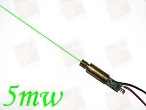 Зеленый лазерный модуль 5мВт