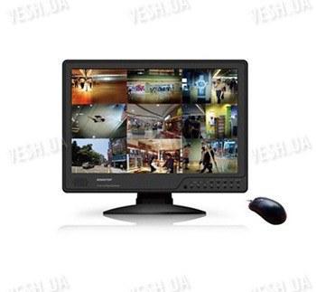 16-ти канальный гибридный 2 в 1 LCD COMBO DVR видеорегистратор с 19-ти дюймовым монитором с записью в realtime c разрешением CIF (модель KT1516L)