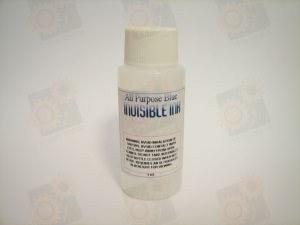 Чернила прозрачные невидимые при обычном освещении, светится синим в UV (УФ - Ультрафиолетовом свете)