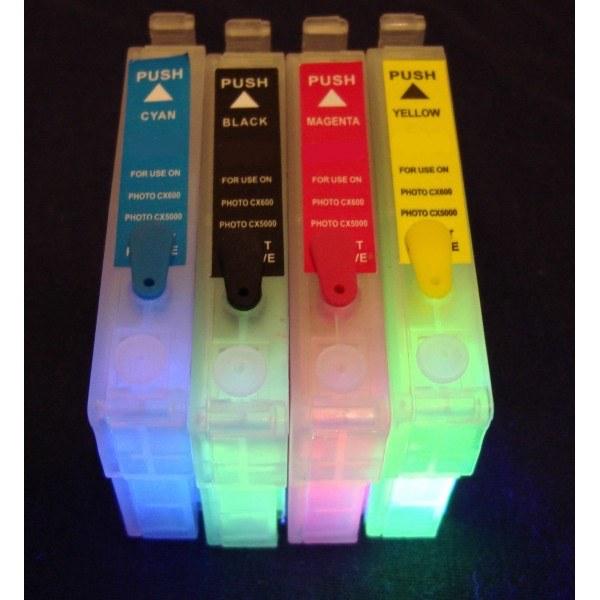 Картридж EPSON T0551-T0554 с невидимыми чернилами УФ UV (светятся в ультрафиолете)