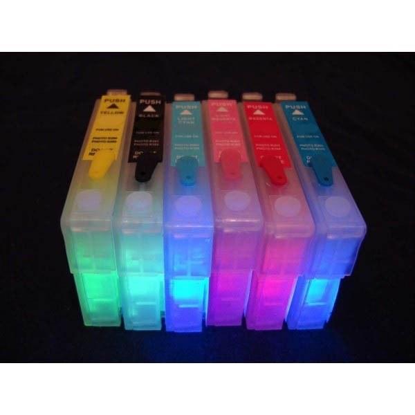 Картридж для принтеров Epson INKJET T080 с невидимыми чернилами УФ UV (светятся в ультрафиолете)