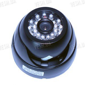 Цветная купольная видеокамера в антивандальном корпусе с ИК подсветкой, 1/3 Sony, 420TVL (модель 426 DS)