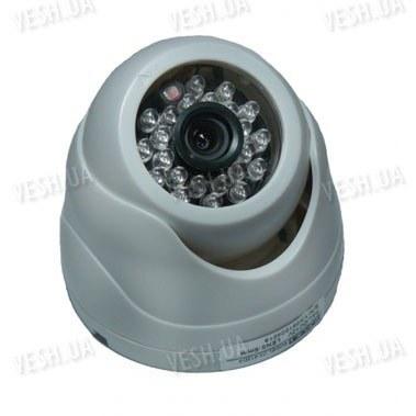 Черно-белая купольная видеокамера c 3D креплением и ИК подсветкой 1/3 SONY, 420 TVL, (модель 412 D/2)