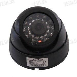 Цветная купольная видеокамера с ИК подсветкой до 15 м., 1/3 Sony, 480 TVL, 0 lux (модель 501 BX)