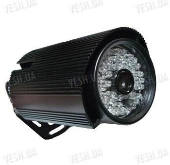 Цветная уличная (наружная) видеокамера с IR подсветкой до 35 метров, 1/3 Sony, 420 TVL, 0 LUX, f=6 мм, кронштейн 3D (модель 725 QF)
