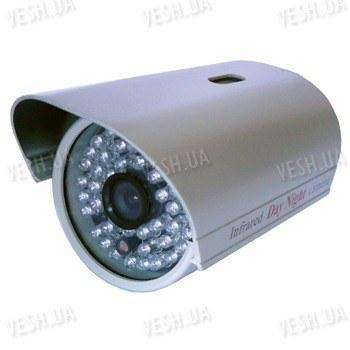 Цветная уличная (наружная) видеокамера с IR подсветкой до 25 метров, 1/3 Sony, 520 TVL, 0 LUX, f=6 мм (модель 715 AS)