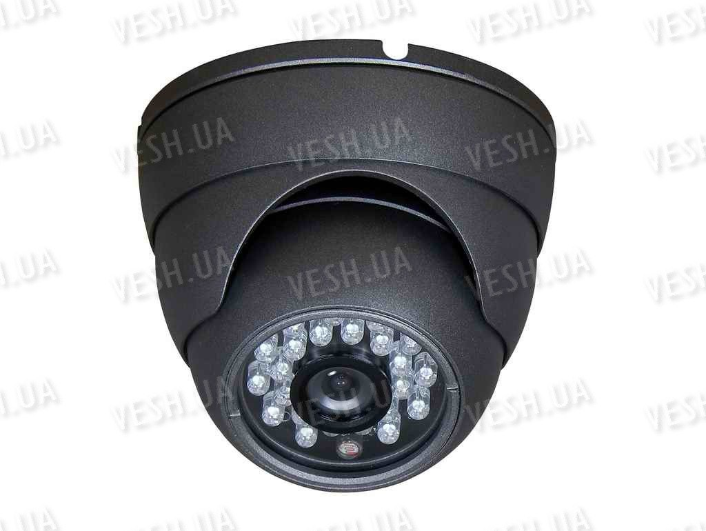 Наружная купольная  CCTV цветная охранная камера видеонаблюдения LG 1/3, 420TVL, 0,1 LUX, ИK до 20 метров  (модель NIRD3)