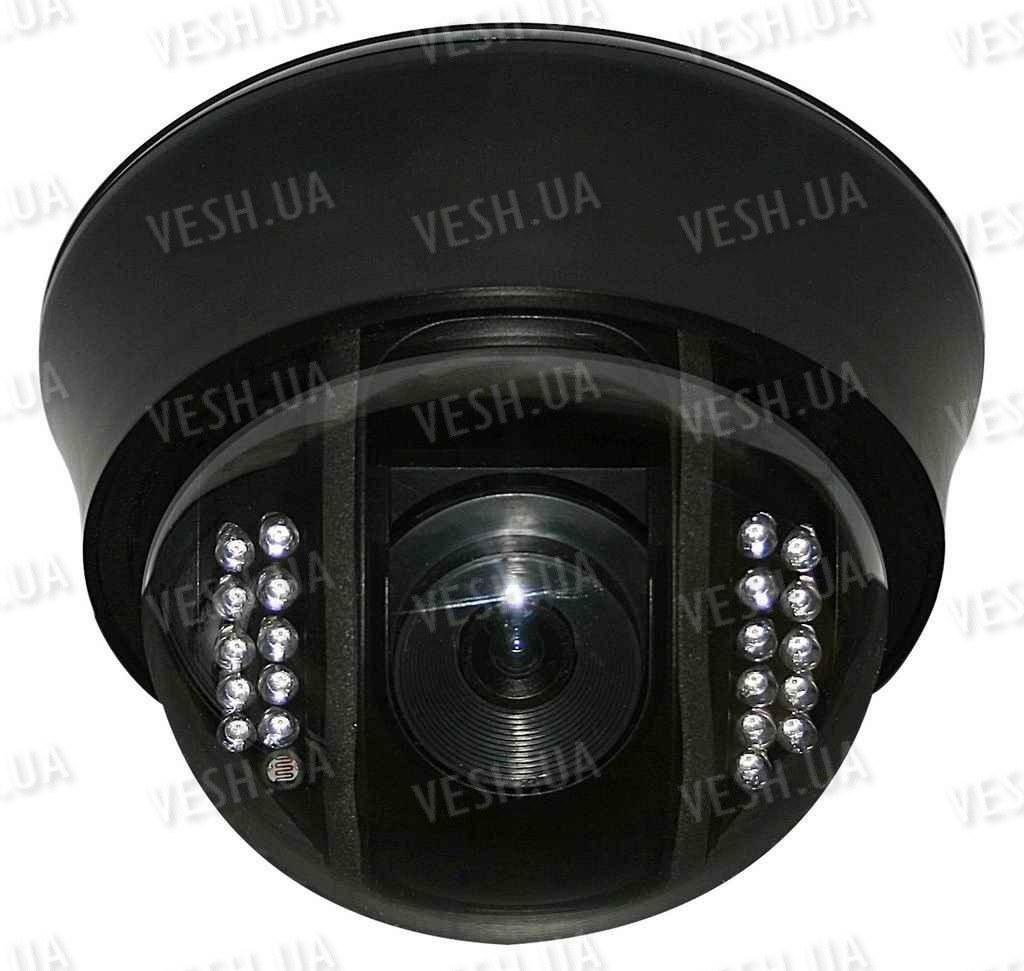 """Внутрення купольная CCTV цветная охранная камера видеонаблюдения 1/3"""" COLOR SONY Super HAD II, Effio-E, 700 TVL, OSD, 0 lux, ИК до 20 м (модель NCDOTIR 21)"""