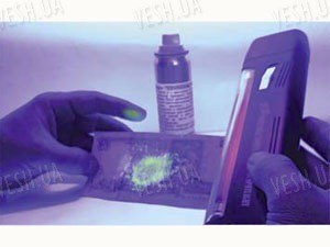 """Аэрозольный маркер """"ПРОМИНЬ-1"""" (светится желто-зеленым цветом в UV (УФ - Ультрафиолетовом свете)"""