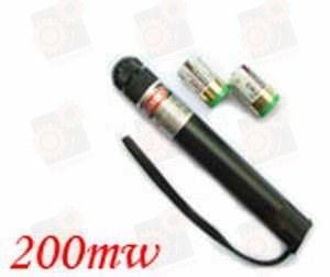 Мощная 200мВт красная указка (Прожигает + видимость луча ночью)