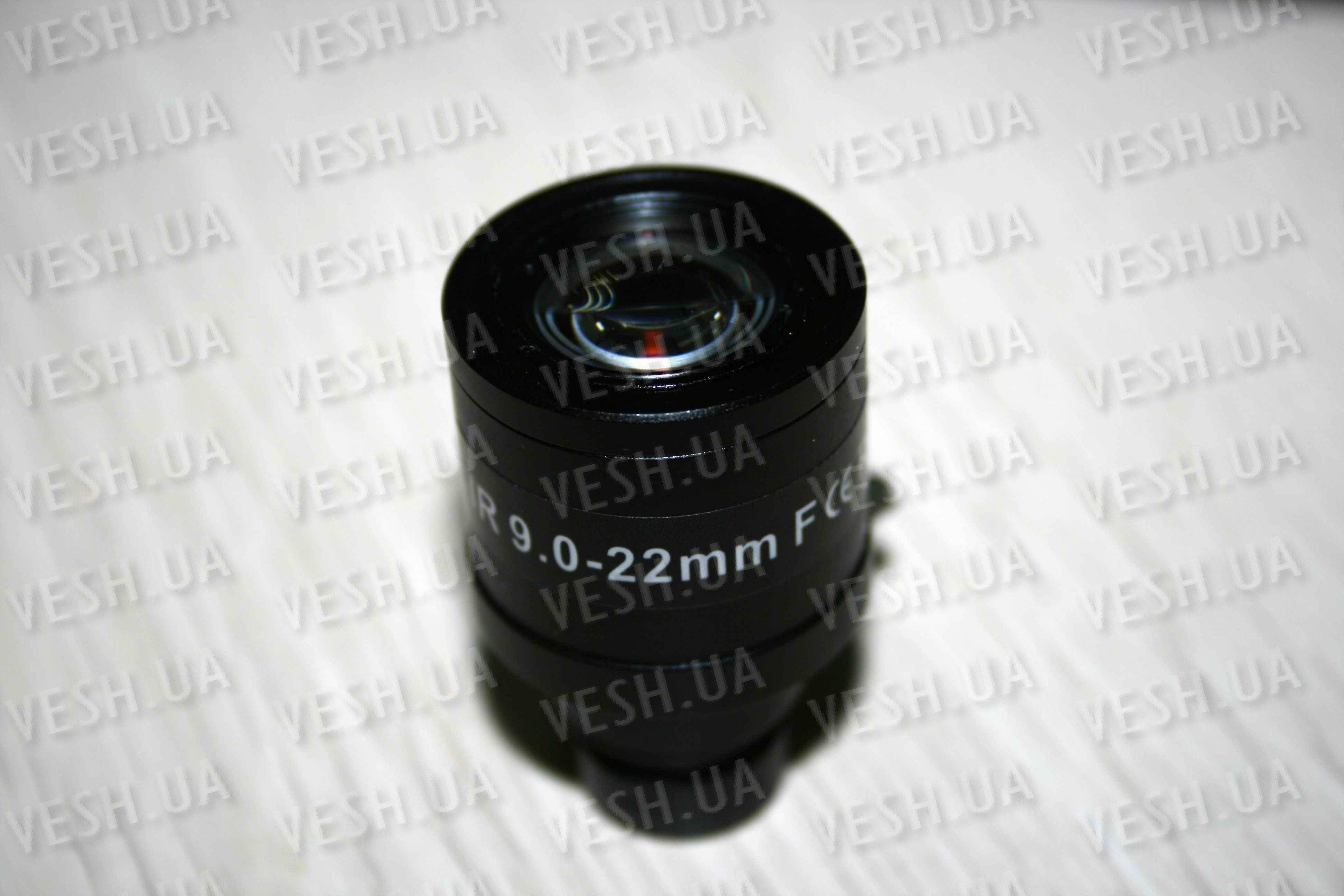 Варифокальный SC объектив для охранных камер видеонаблюдения f=9-22 мм, угол обзора 29-12 °