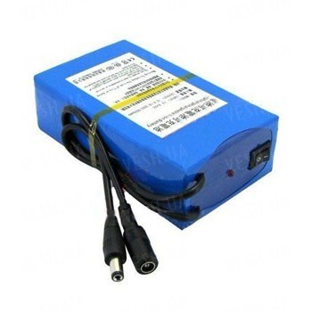 Оригинальный литий-ионный аккумулятор 12V с РЕАЛЬНОЙ ёмкостью 10000mAh, током разряда 2А и платой защиты от разряда и перезаряда (YABO-12010400)