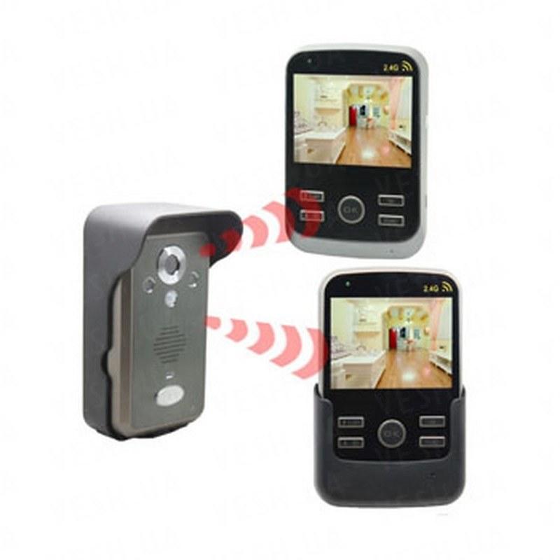 Беспроводный влагозащитный видеодомофон с 2-мя 3,5 дюймовыми экранами, памятью на 100 фотографий, детектором движения и дальностью передачи до 300 метров (модель Kivos KDB301х2) РЕКОМЕНДУЕМ!!!