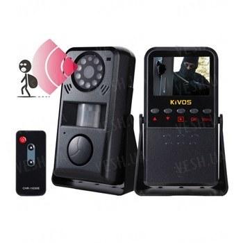 Многофункциональный 4 в 1 автономный охранный видеорегистратор с датчиком движения, сиреной на 120 dB, 2,4 дюймовым экраном и пультом ДУ (модель Kivos KVA01)