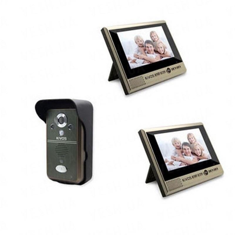 Беспроводный влагозащитный видеодомофон с 2-мя 7 дюймовыми экранами, записью фото/видео и дальностью передачи до 300 метров (мод. Kivos KDB700х2) РЕКОМЕНДУЕМ!!!