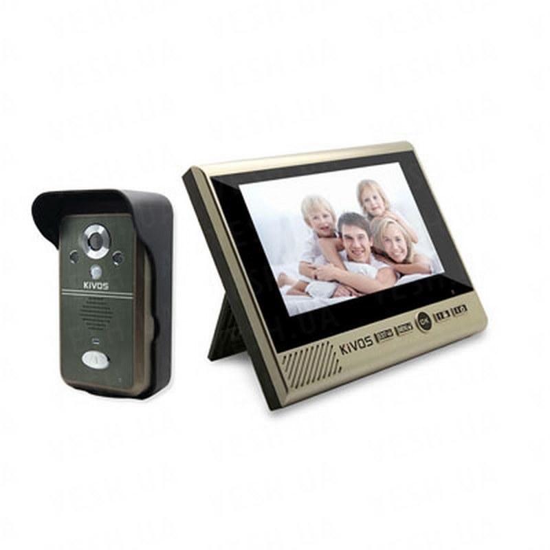 Беспроводный влагозащитный видеодомофон с 7-ми дюймовым экраном, записью фото/видео и дальностью передачи до 300 метров (модель Kivos KDB700) РЕКОМЕНДУЕМ!!!