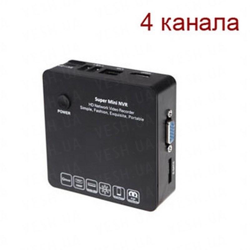 Миниатюрный 4-х канальный IP видеорегистратор FULL HD 1080P c ONVIF, HDMI и поддержкой внешнего ESATA/USB HDD до 4-х Tb (мод. KENVS 6200 4CH)