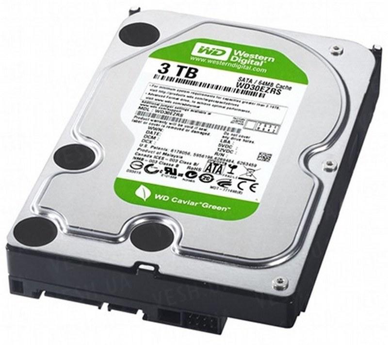 Винчестер (жёсткий диск) для стационарных видеорегистраторов ёмкостью 3000 Gb (3 Tb)