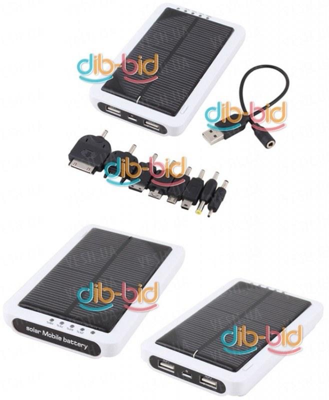 Солнечная батарея аккумулятор 12000mAh для всех телефонов, iPod, iPhone, iPad, USB