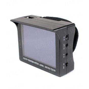 Портативный CCTV тестер для настройки охранных камер с 3.5 дюймовым экраном и возможностью тестирования ADSL канала связи (модель KY-3506)