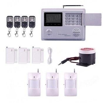 Универсальная GSM сигнализация с клавиатурой и LCD дисплеем с поддержкой проводных и беспроводных датчиков (модель SAS 03)