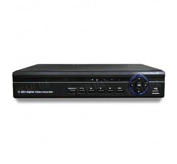 Стационарный бюджетный 8-ми канальный H.264 видеорегистратор realtime (2СH D1, 6CH CIF) 1 аудиовход, VGA, сеть, PTZ, USB, мышь (модель 3608TW)