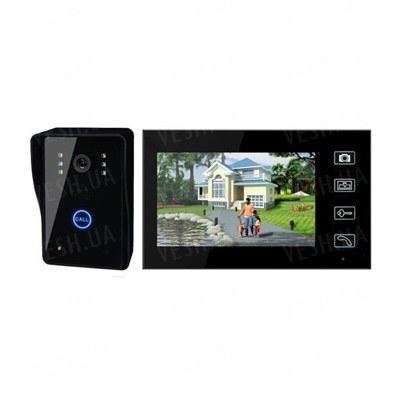 7-ми дюймовый беспроводный видеодомофон с сенсорным управлением и памятью на 100 фотографий, дальностью передачи до 150 метров (модель SY806MJW11)