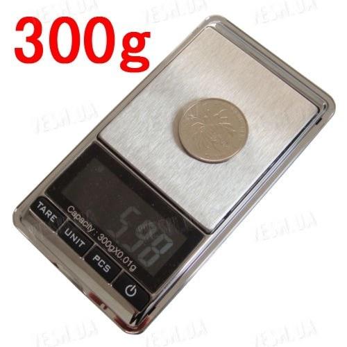 Весы портативные цифровые ювелирные 300г x 0.01г