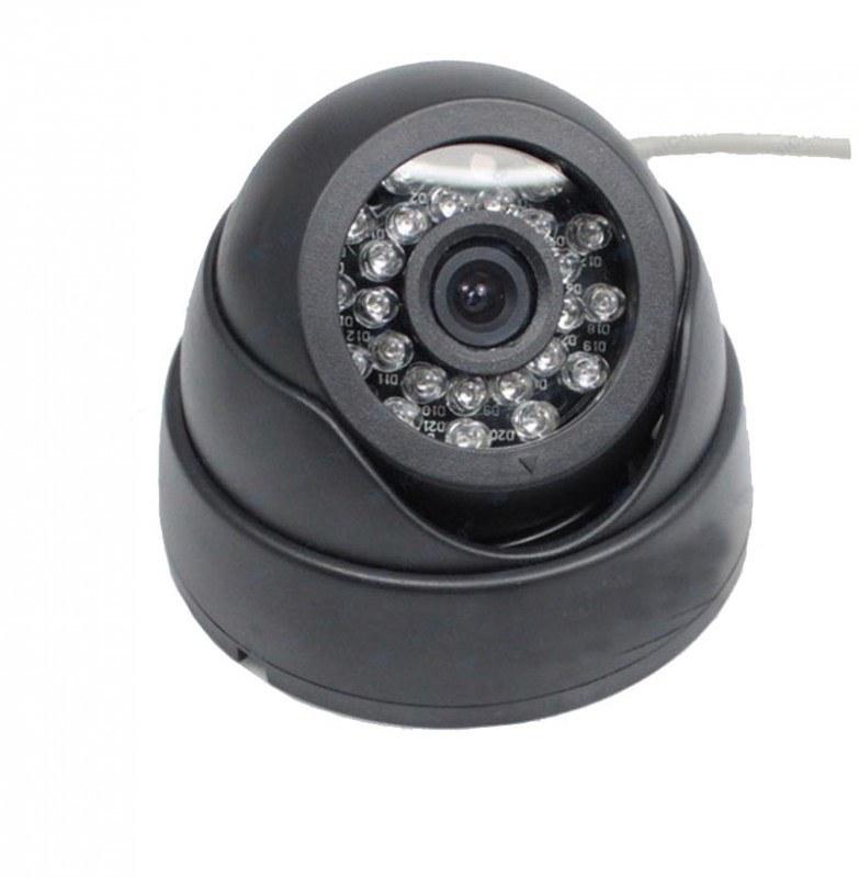 Наружная купольная  CCTV цветная охранная камера видеонаблюдения  1/4 CMOS, 450TVL, 0,1 LUX, ИK до 15 метров  (модель XR-IC420)