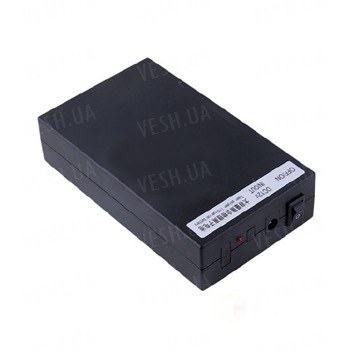 12V литий-полимерный перезаряжаемый аккумулятор 9800 mAh в чёрном пластиковом корпусе для питания охранных камер видеонаблюдения