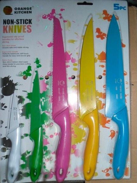 Набор ярких, металлических ножей (5 штук)