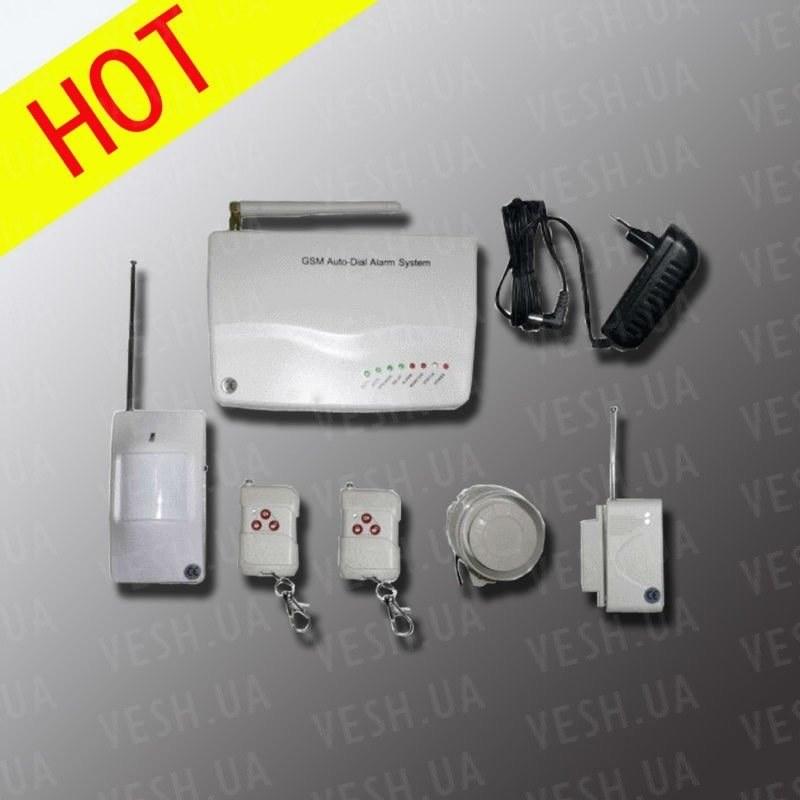 GSM сигнализация с поддержкой беспроводных датчиков и управлением с мобильного телефона (модель GSM-IP-602V2)