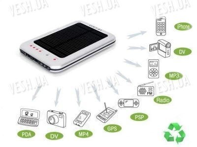 1500мАч солнечная батарея аккумулятор для телефонов, iPod, iPhone2,3,3G,4G, MP3