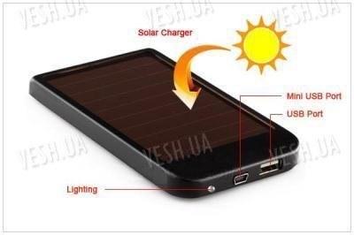 1500мАч универсальная USB солнечная батарея аккумулятор для всех телефонов
