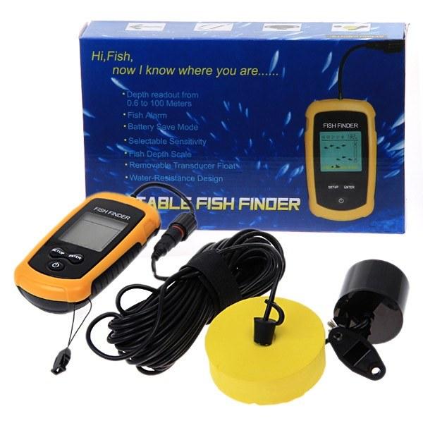 Портативный проводной сонар (эхолот, рыболокатор) для поиска рыбы (модель ММ-100М) кабель 9,5 метров